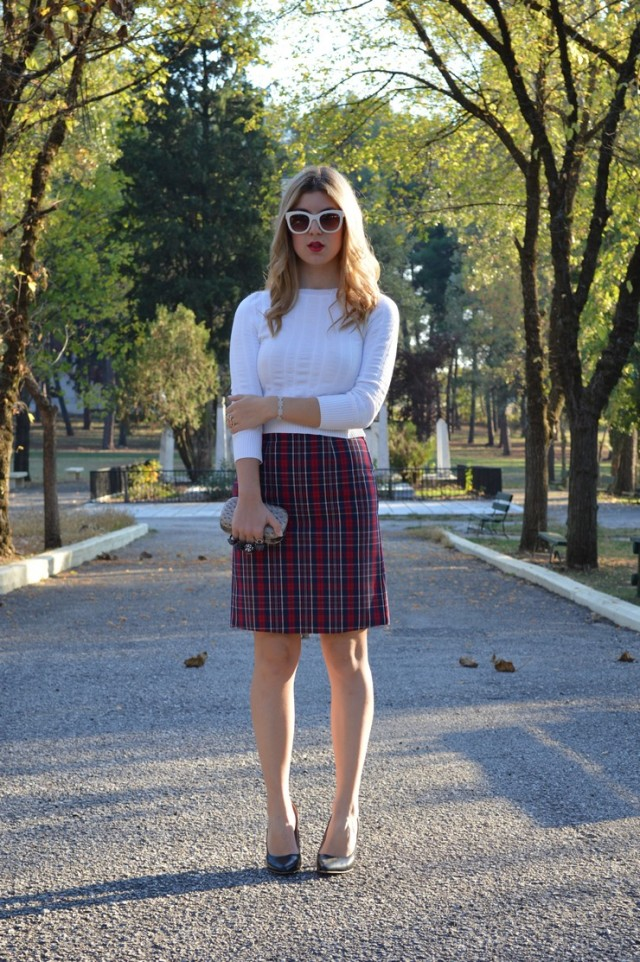 Mary Fashion Love- Midi Check Skirt