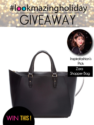 LookMazing Holiday Giveaway Zara Bag Inspirafashion