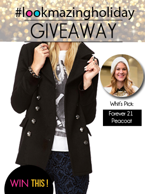 Forever21 Peacoat Giveaway on LookMazing
