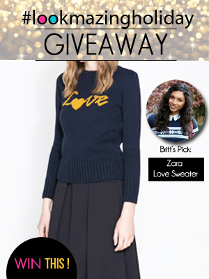 Zara Love Sweater Giveaway